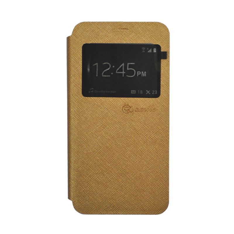 SMILE Standing Flip Cover Casing for Xiaomi Mi 5s Plus - Gold