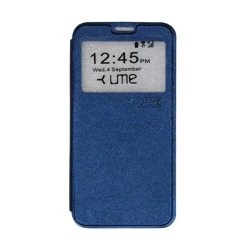 UME Flipshell Flip Cover Casing for Coolpad Fancy 3 E503 5.5 Inch - Navy