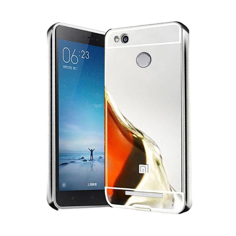 Bumper Mirror Sliding Casing for Xiaomi Redmi 3 Pro - Silver