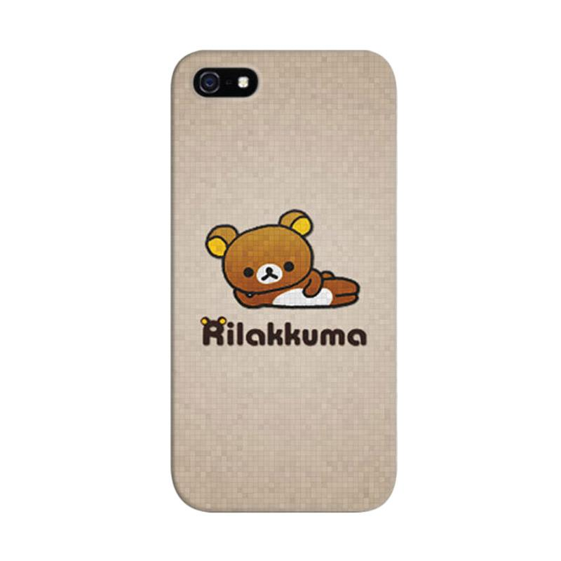 Indocustomcase Rilakkuma Custom Hardcase Casing for Apple iPhone 5/5S/SE