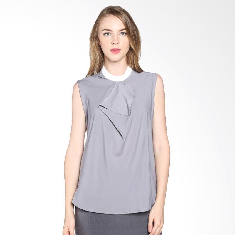 PS Career PC603RA50443 Layer Neck Blouse - Grey