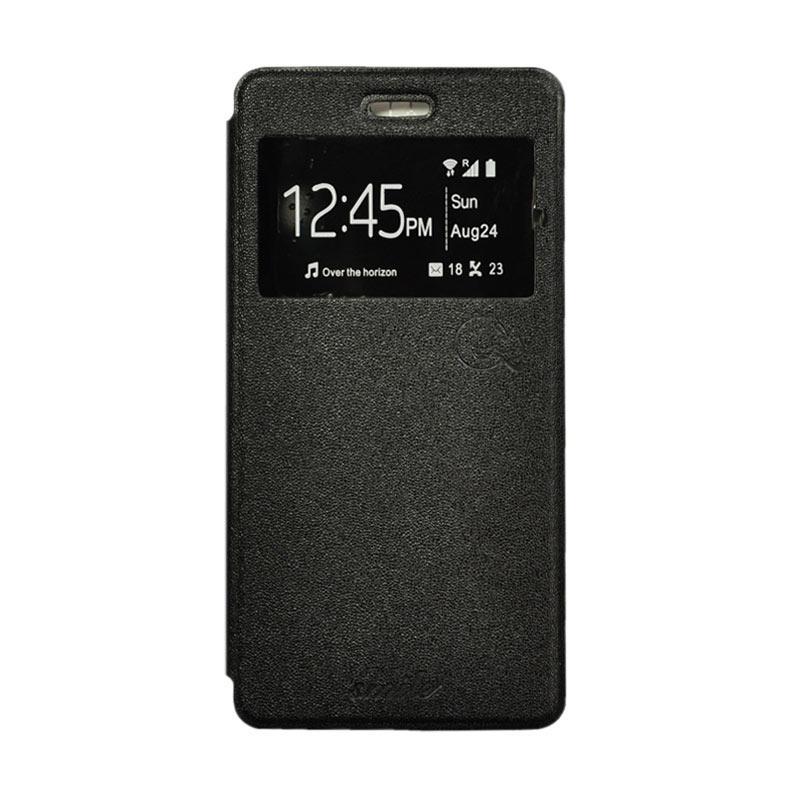 SMILE Standing Flip Cover Casing for Samsung Galaxy J5 - Black