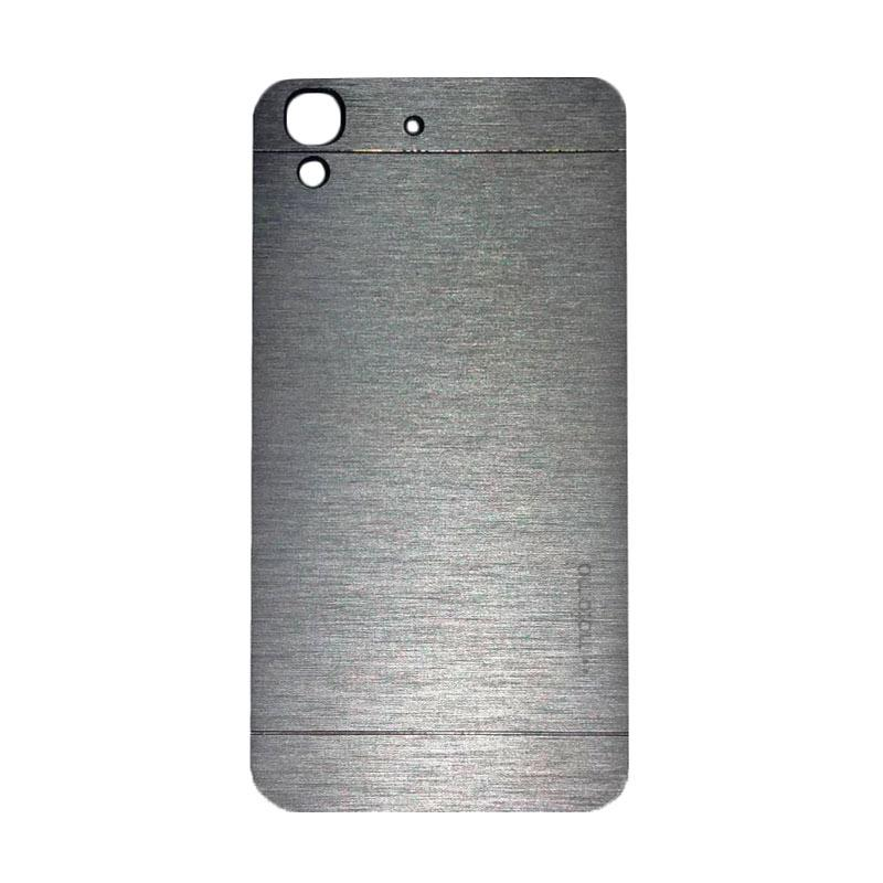 Motomo Metal Hardcase Backcase Casing for Huawei Y6 - Silver