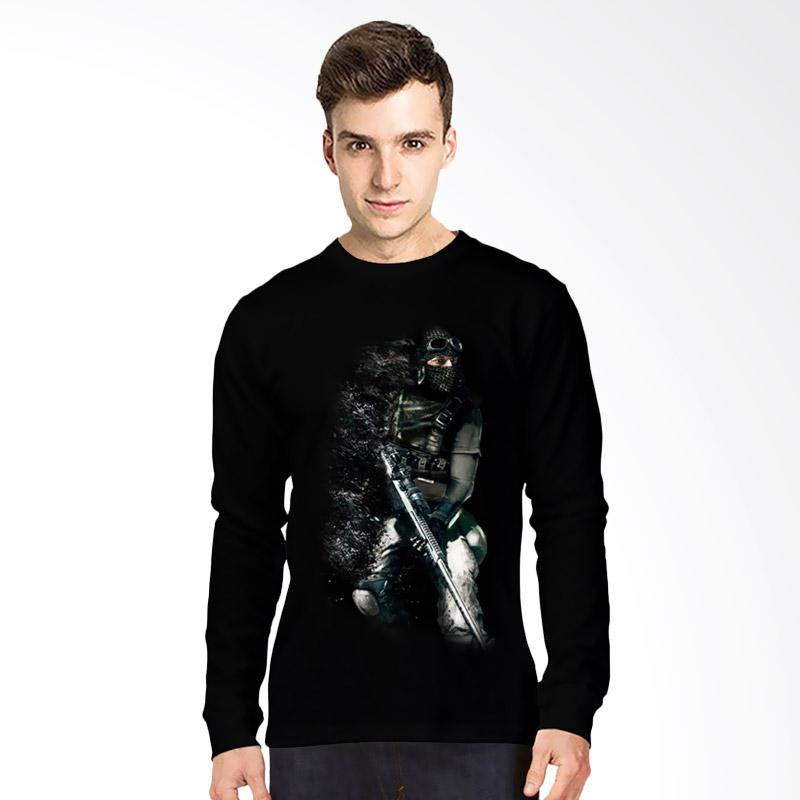harga T-SHIRT GLORY 3D Dropdead Kaos Lengan Panjang Pria - Hitam Blibli.com