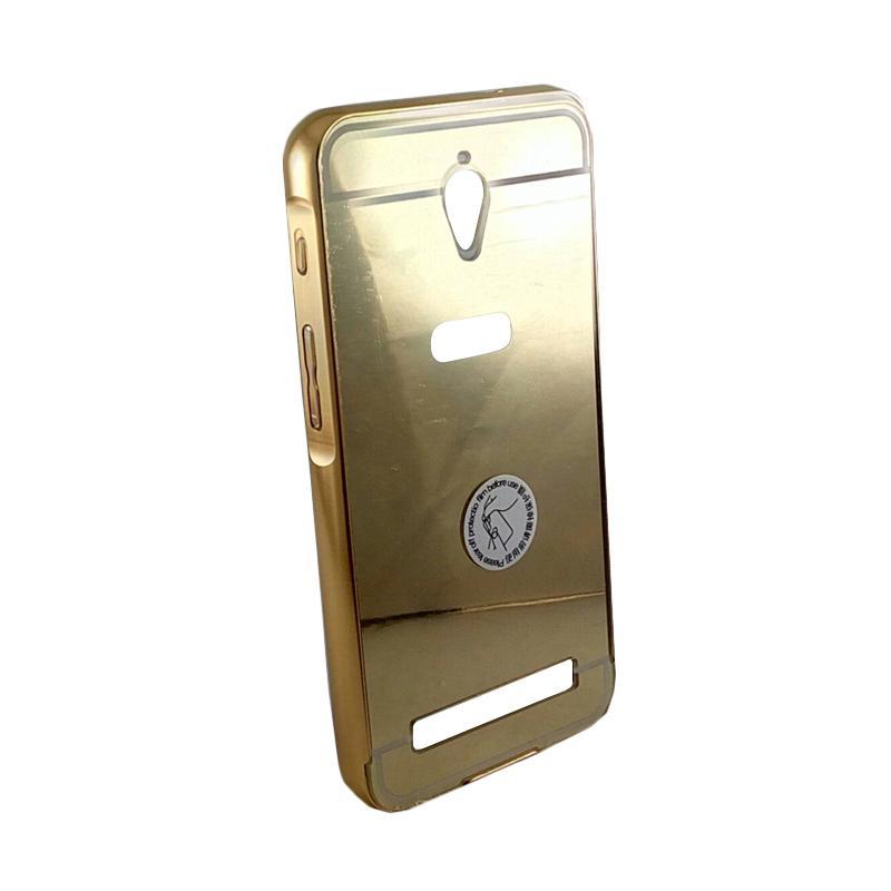 Bumper Mirror Sliding Casing for Asus Zenfone C - Gold