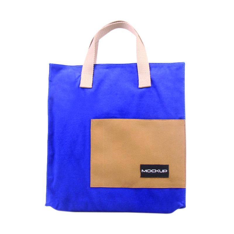 Mock Up Mini Tote Bag Mockup BGO/11 Tas Unisex - Electric Blue