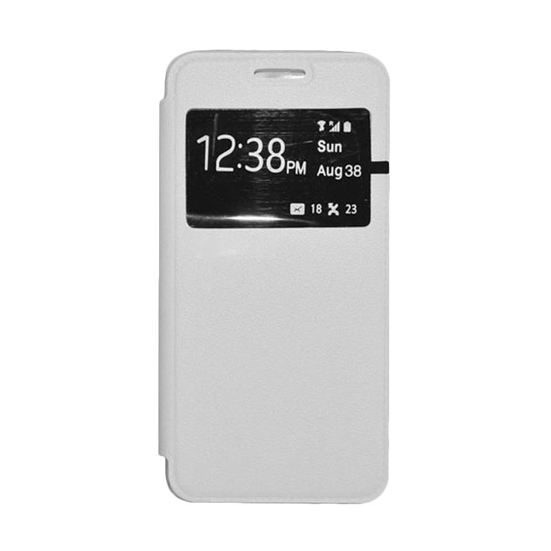 OEM Leather Book Cover Casing for SONY Xperia T2 Ultra - White
