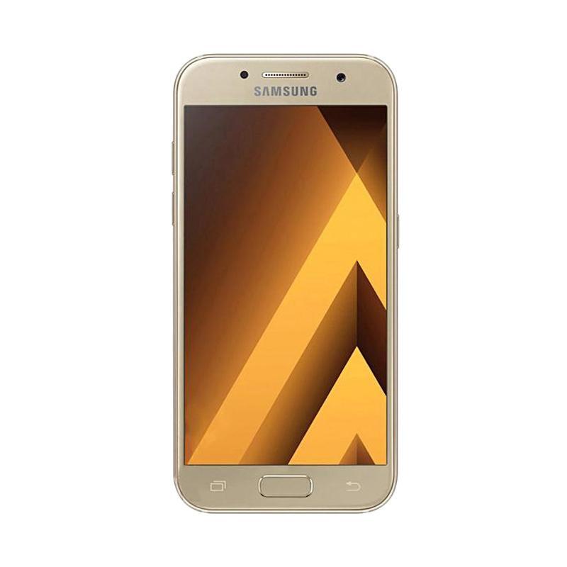 Samsung Galaxy A7 2017 Smartphone - Gold [32 GB/3 GB] + FREE RINGSTAND + PERDANA