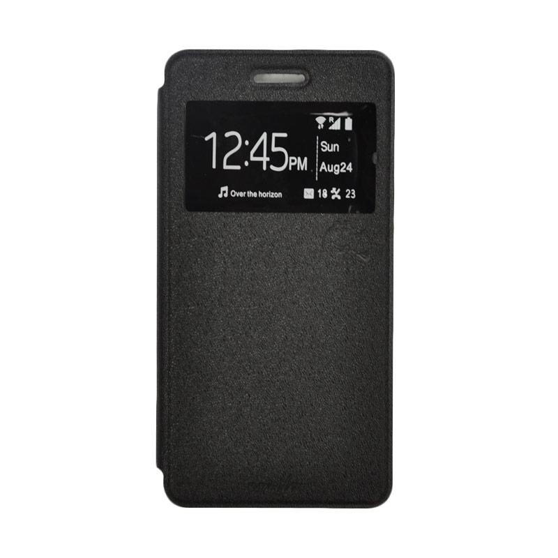 SMILE Standing Flip Cover Casing for Samsung Galaxy J7 - Black