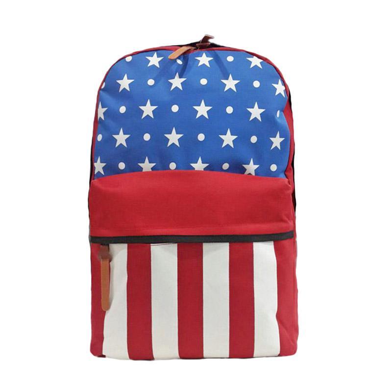 Best Seller Bag & Stuff American Flag Backpack Bendera Amerika Tas Ransel