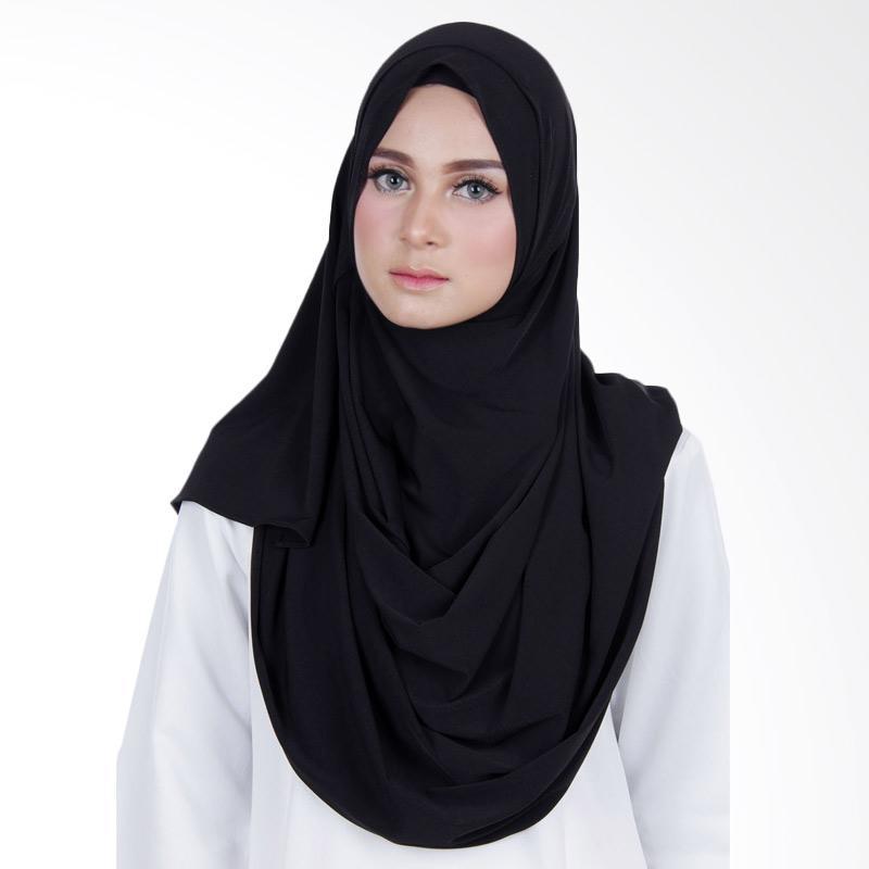Cantik Kerudung Sheefa 2 Face Lycra Hijab Instan - Black