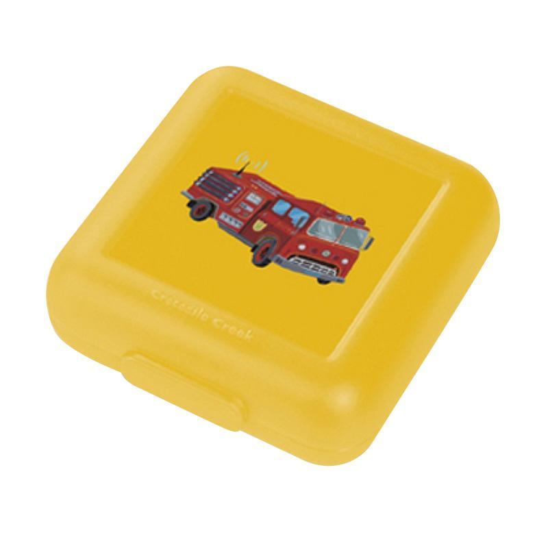 Crocodile Creek Sandwich Keeper Kotak Makan - Yellow Fire Truck