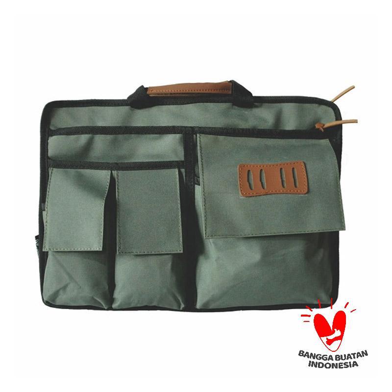 harga GGOODSTUFF DOC Multifungsi Tas Laptop - Army Green Blibli.com