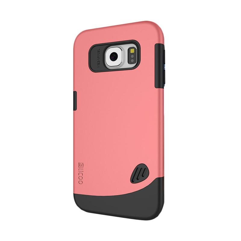 Slicoo Frosted Back Side Hardcase Casing for Samsung Galaxy S6 Edge - Pink