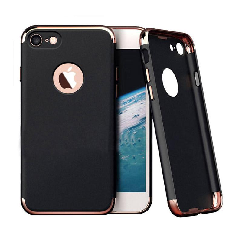 Likgus Tough Shield Jet Chrome Casing for iPhone 7 - Black Rose Gold