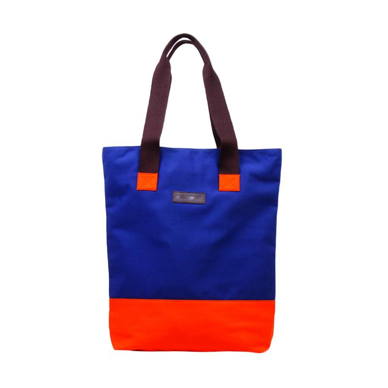 Machupicchu Tote Kana Bag CC BTO.17 Tas Wanita - Navy & Orange