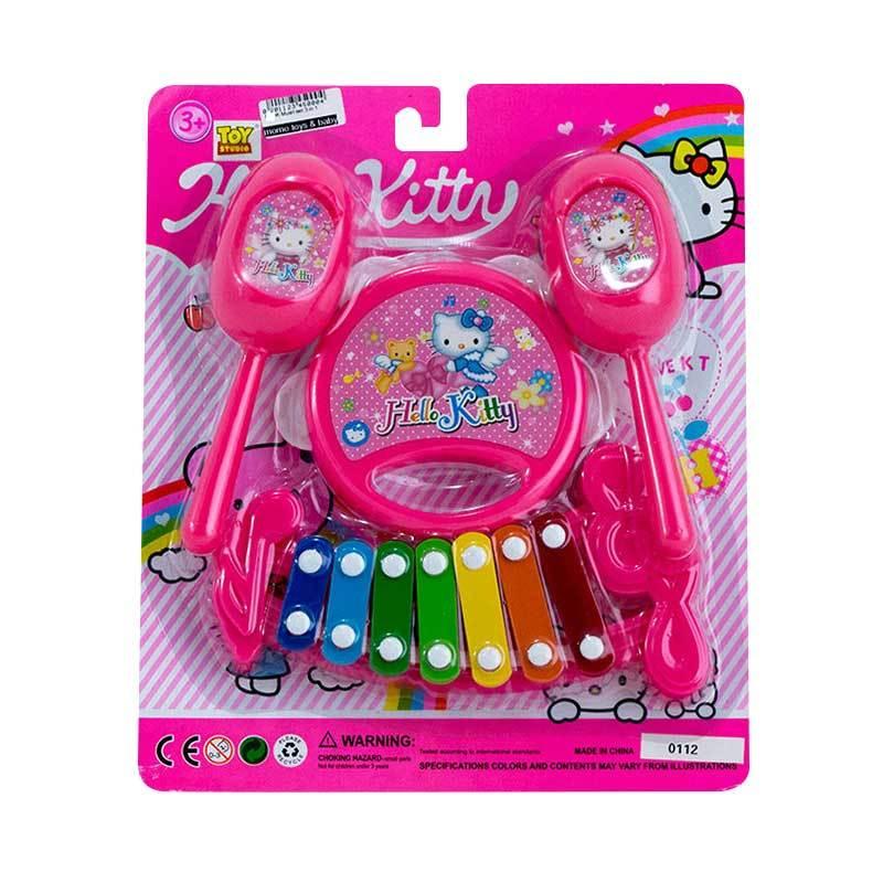 harga MOMO Hello Kitty Music Play Set 3in1 Mainan Alat Musik - Pink Blibli.com