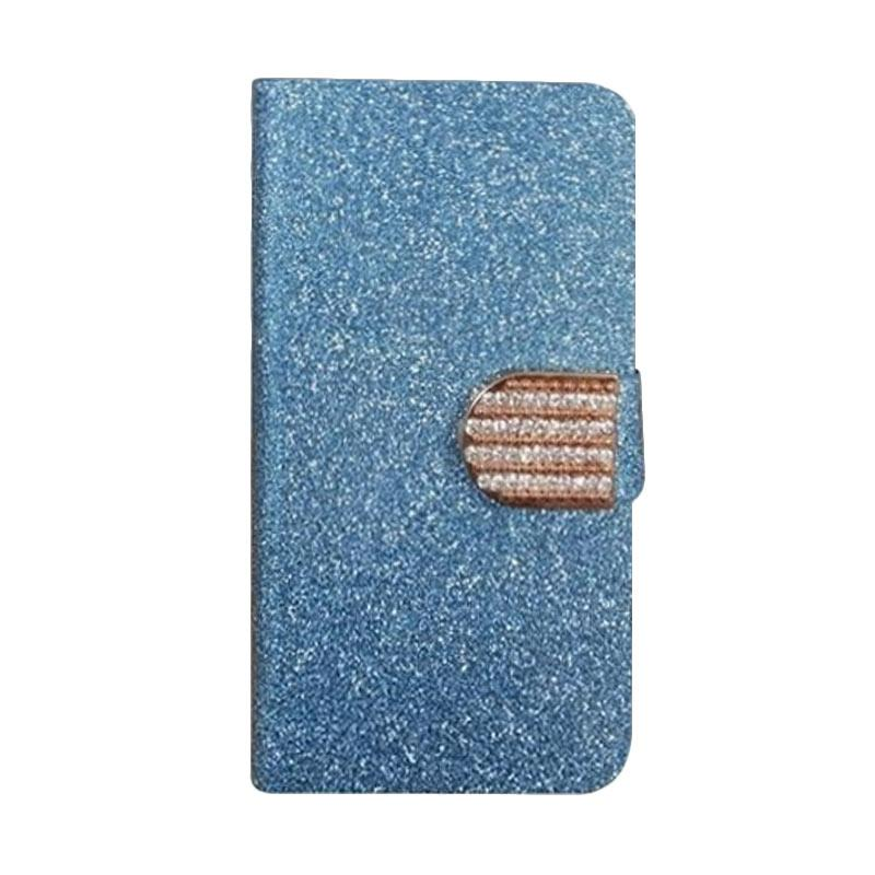 OEM Diamond Flip Cover Casing for Asus Zenfone 3 Neo 5.2 ZE520KL - Biru
