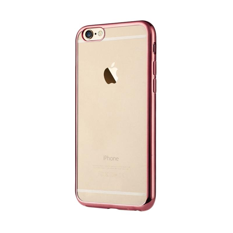 OEM Shining Chrome Softcase Casing for iPhone 6G 4.7 Inch - Rose Gold