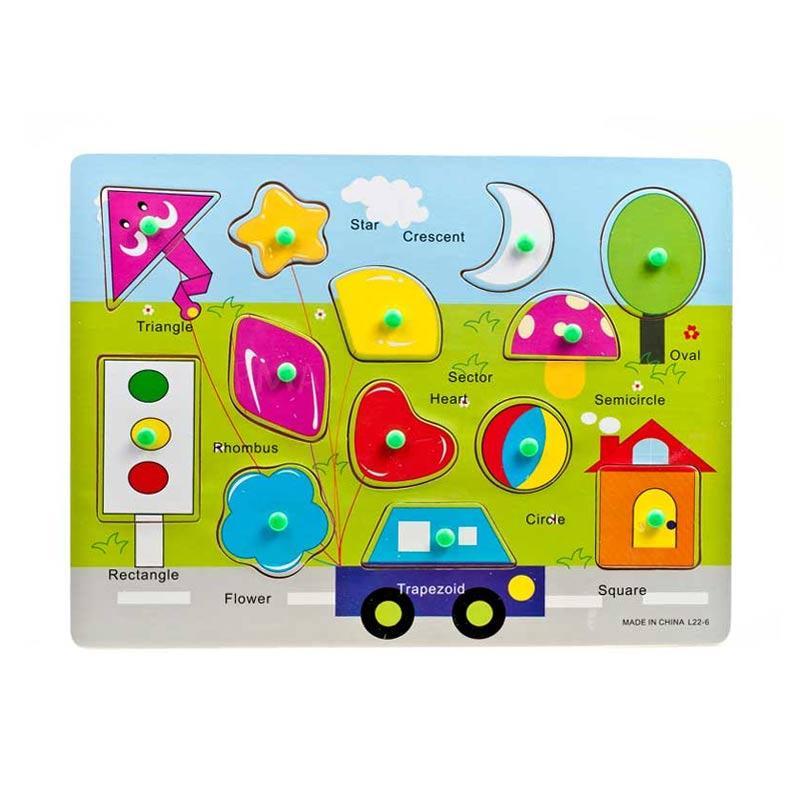 Pusat Mainan Anak PMA Bentuk Puzzle Kayu [Tipe 1]