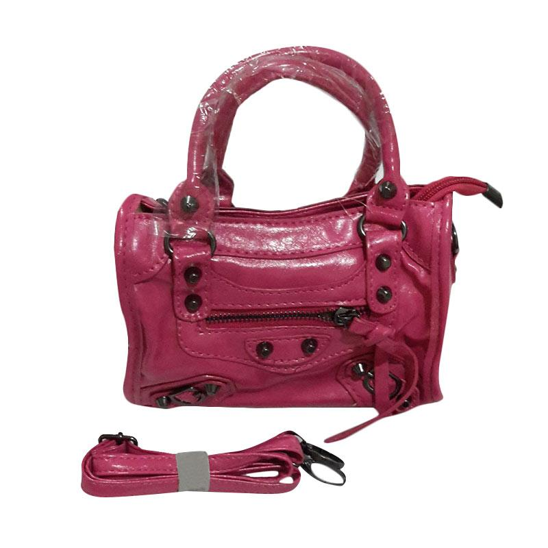 harga CL Kiddos Button Classic Sling Bag Mini Tas Anak Perempuan / Remaja - Pink Blibli