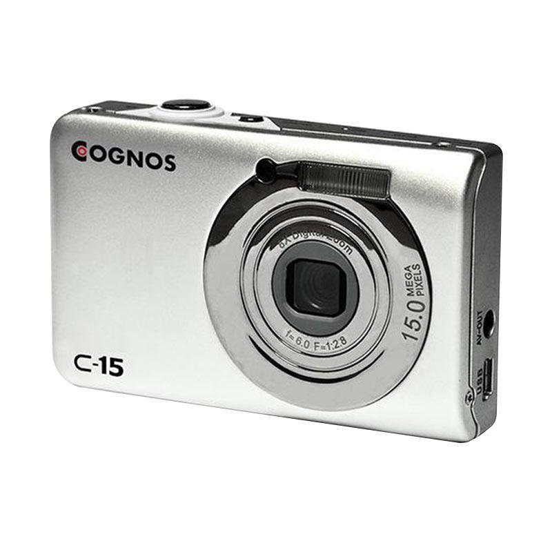 "Cognos C-15 Pocket Camera - Silver [15MP TFT/ LCD Display 2.4""/ Zoom 8x]"