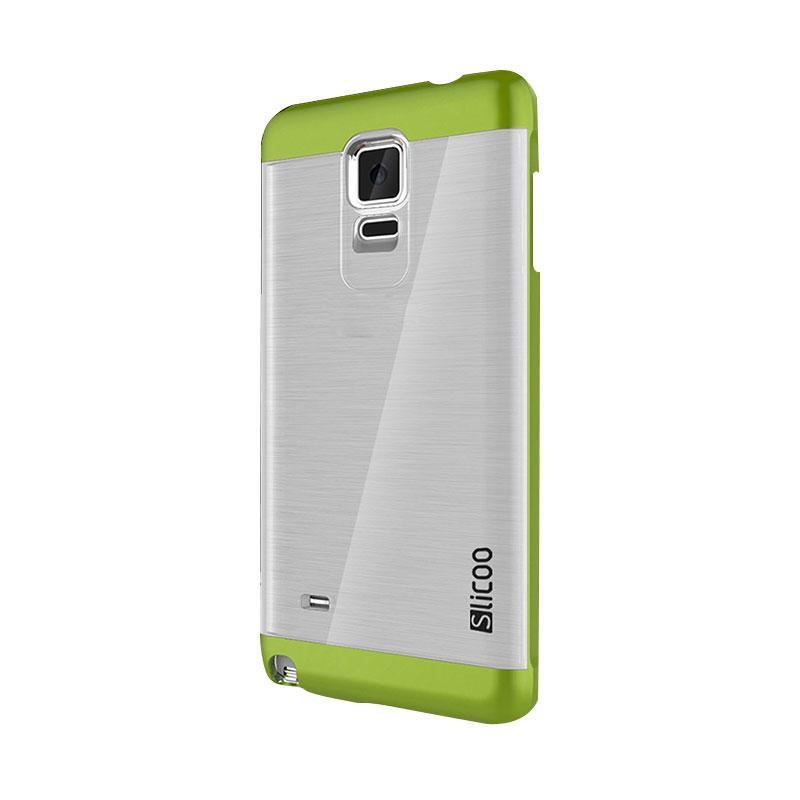 Slicoo Clear Side Cover Hardcase Casing for Samsung Galaxy Note 4 - Hijau