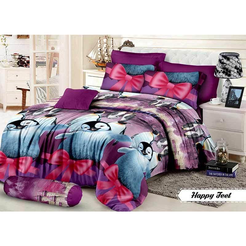 Khawla Disperse Happy Feet Set Sprei dan Bed Cover