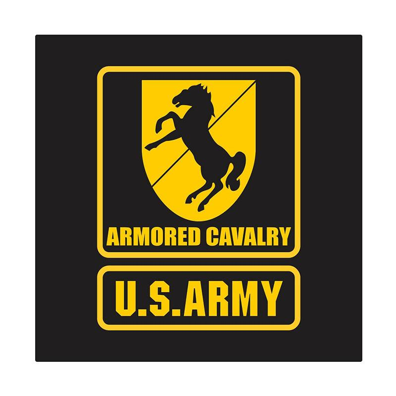 Kyle US Army 11th Armored Cavalry Cutting Sticker - Yellow
