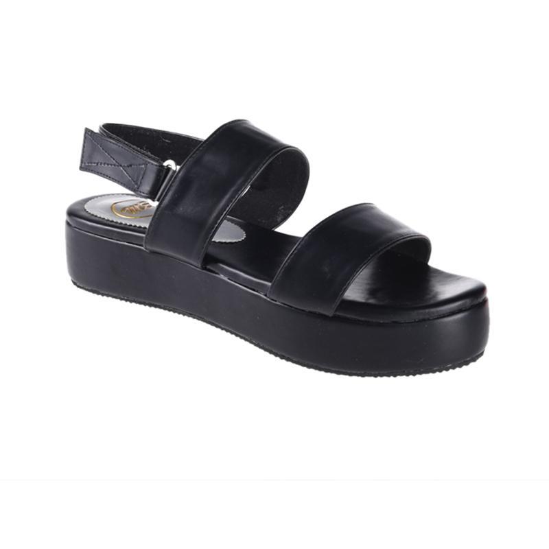 harga Me Production EMS170003 Tasha Sandal Wedges Wanita - Black Blibli.com