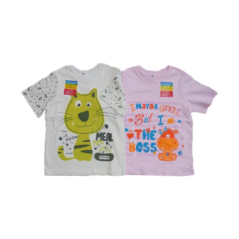Piteku Hippo Boss Pink dan I Love Meal T-Shirt - Pink Hijau
