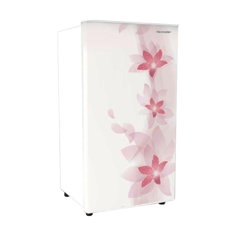 SHARP SJN166FW Kulkas Kirei II - Flower White [1 Door/133L]