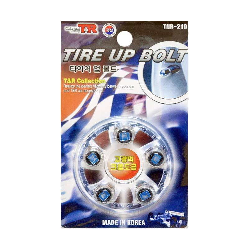 SIV Logo HONDA Tire Up Bolt Set Tutup Pentil Ban Mobil [5 pcs]