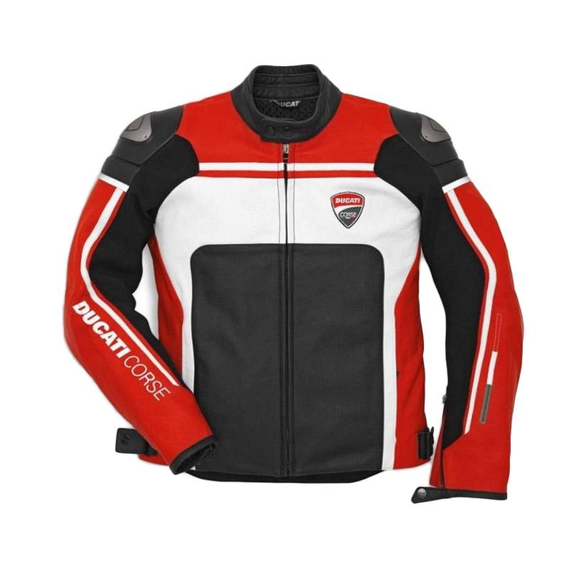 harga Ducati Corse C2 Leather Man Perforated Jaket Motor - Red White Blibli.com