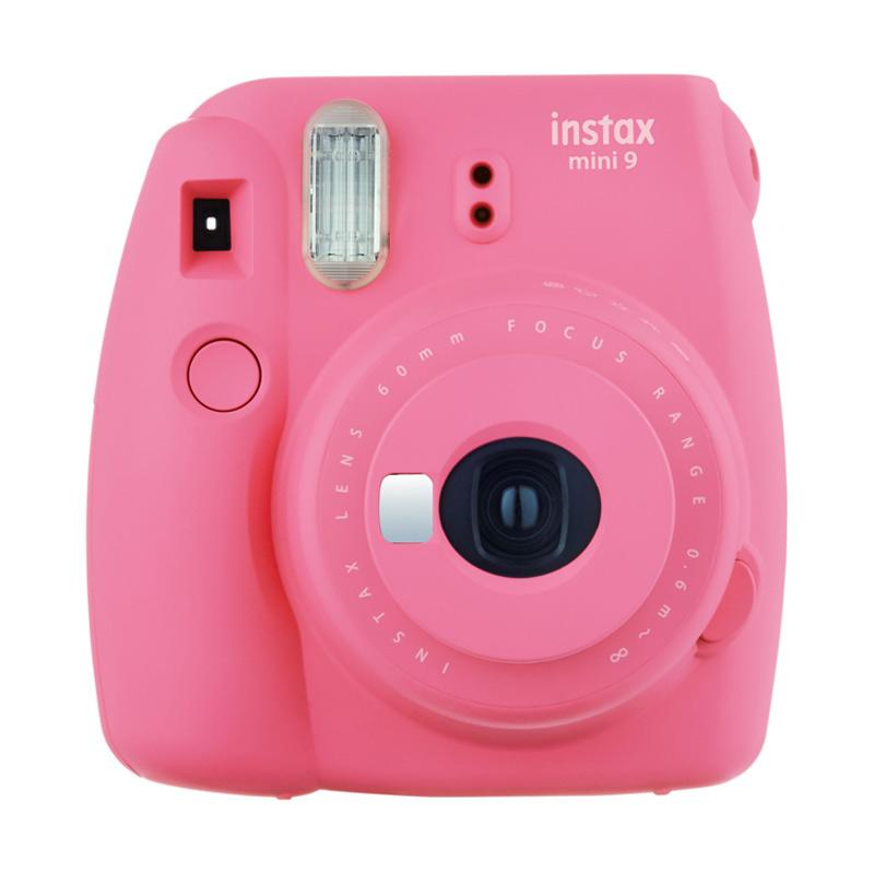 Fujifilm instax mini 9 Instant Film Camera - Flamingo Pink + INSTAX PAPER 1 PACK