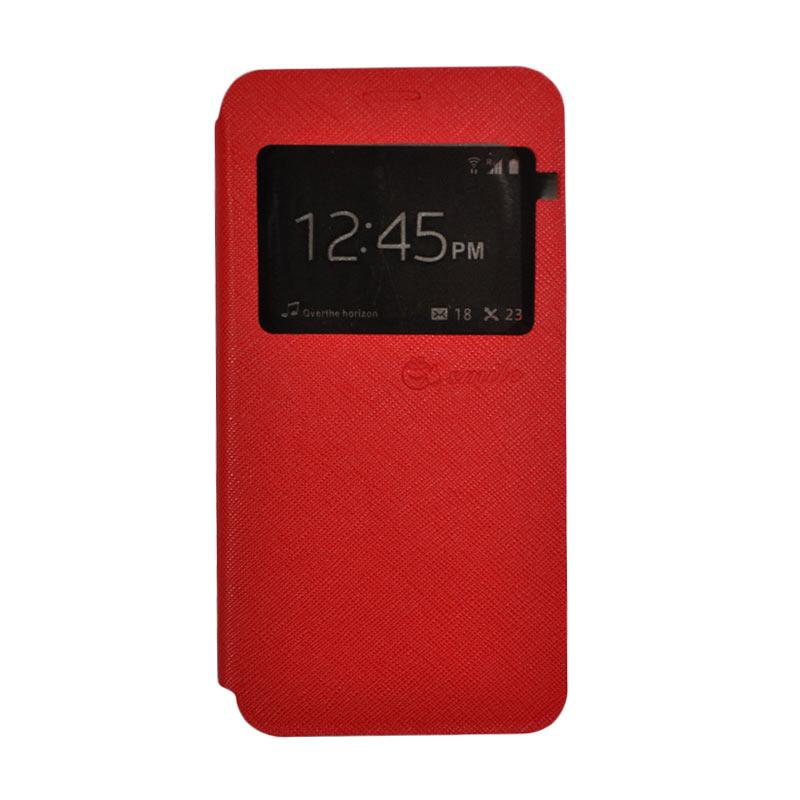 SMILE Standing Cover Casing for Samsung Galaxy J5 Prime - Red