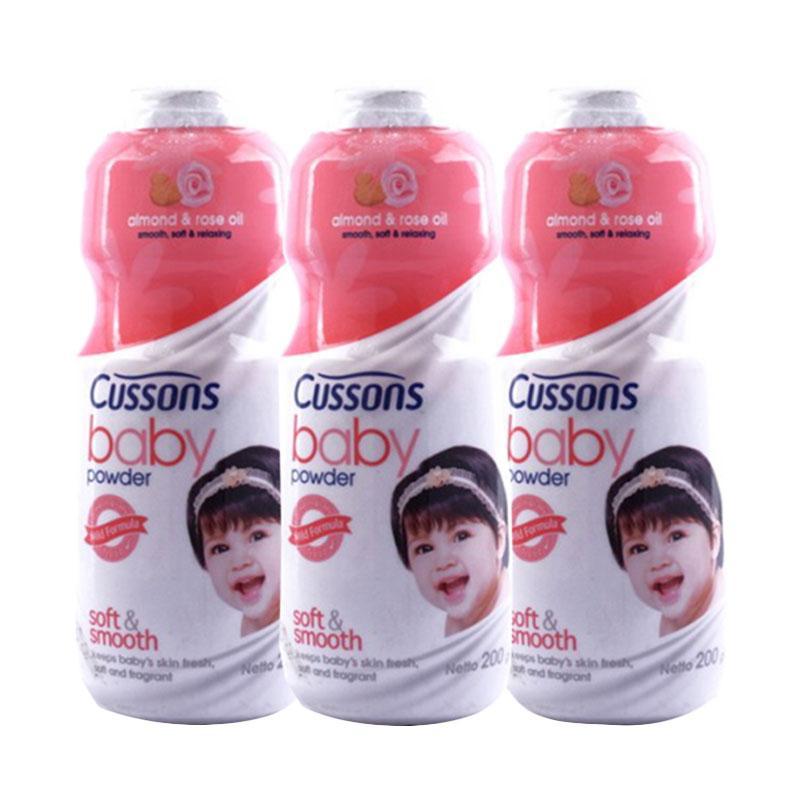 harga Cussons Baby Soft & Smooth Baby Powder [200 g/3 pcs] Blibli.com