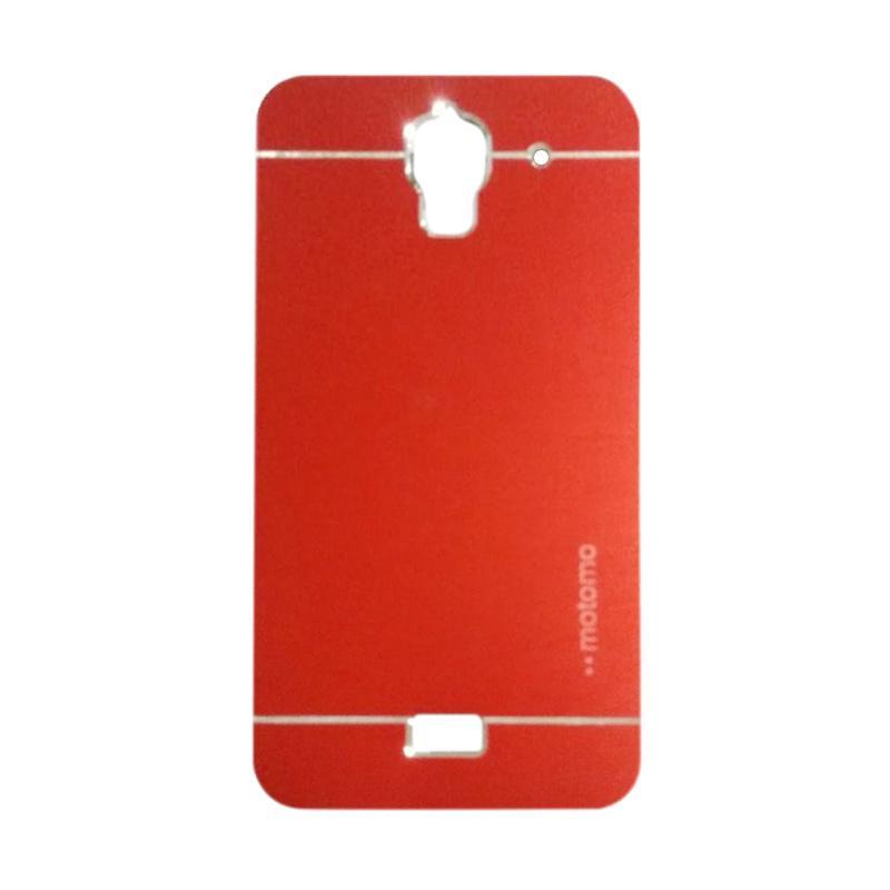 Motomo Metal Hardcase Backcase Casing for Huawei Y3/Y3C/Y360 - Red