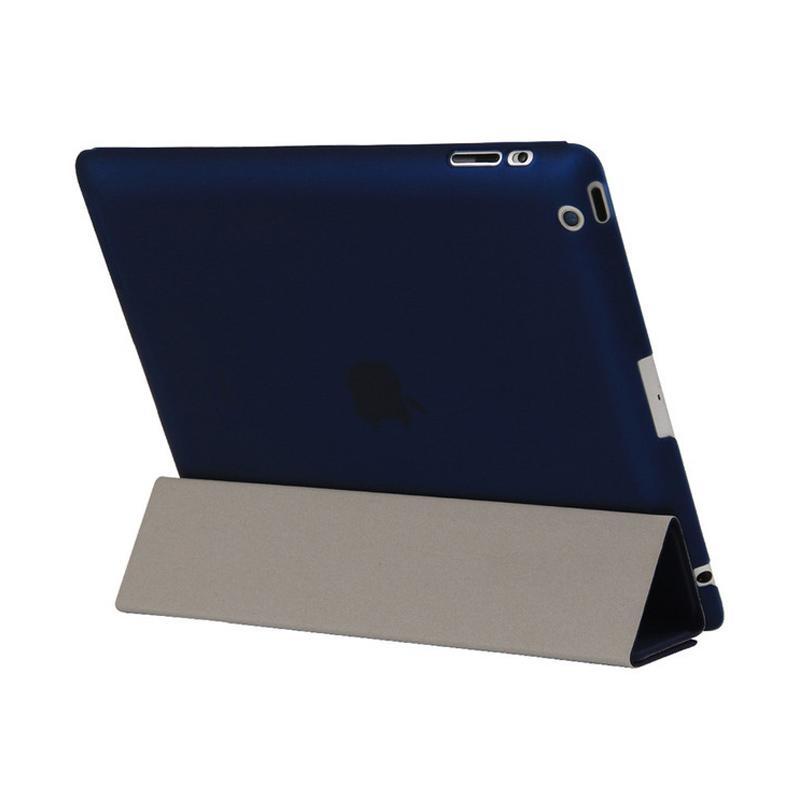 harga Slavensshop 4 Fold Flip Cover Casing for iPad 2/3/4 - Navy Blibli.com