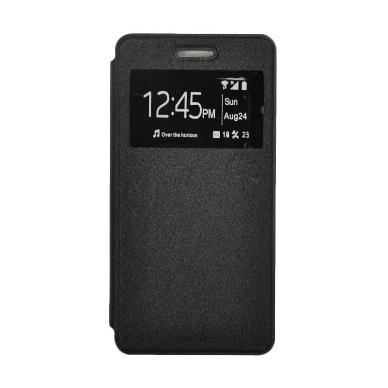 SMILE Standing Flip Cover Casing for Xiaomi Redmi Note 4 - Black