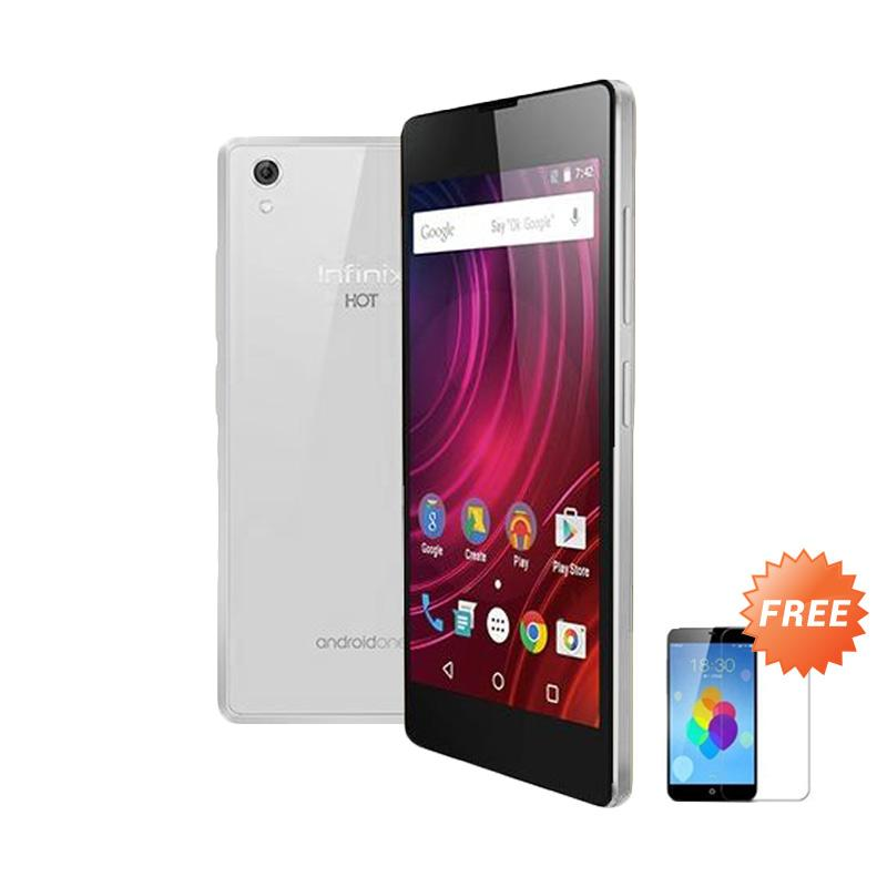 Ultrathin Casing for Infinix Hot 2 - Clear + Free Tempered Glass Screen Protector