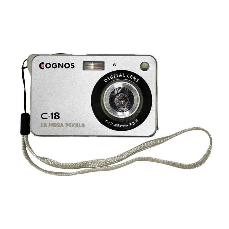 Cognos C-18 Kamera Pocket - Silver [18 MP/TFT LCD 2.4 Inch/Zoom 8x]