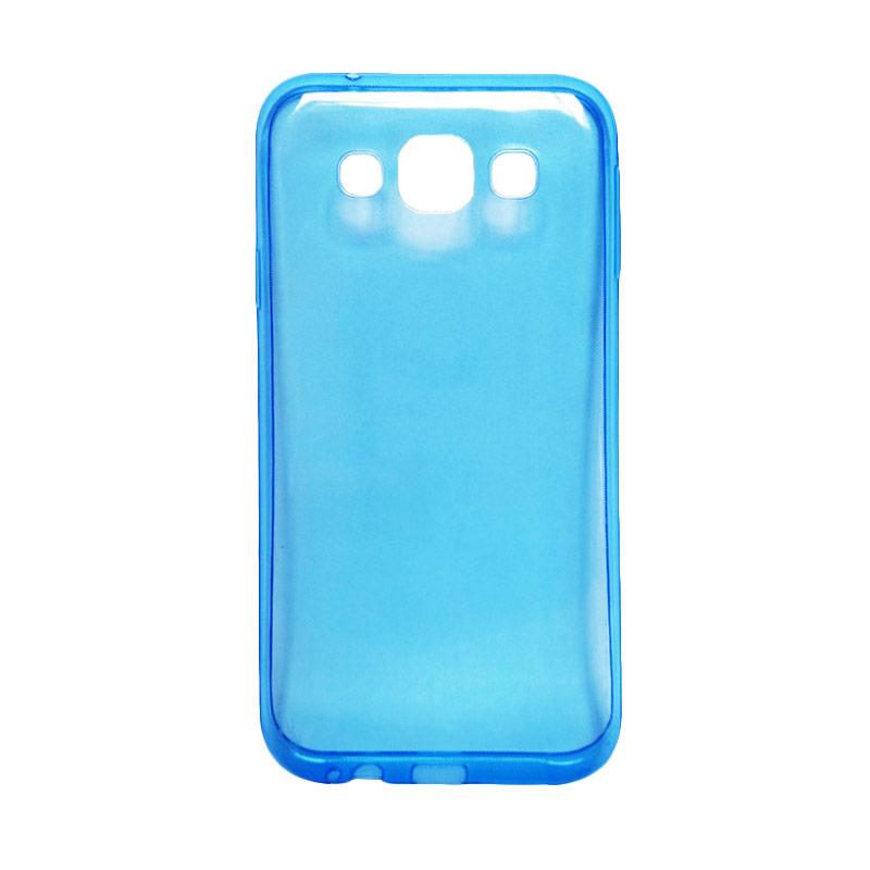 Ultrathin Transparant Softcase Casing for Samsung J710 J7 2016 Biru .