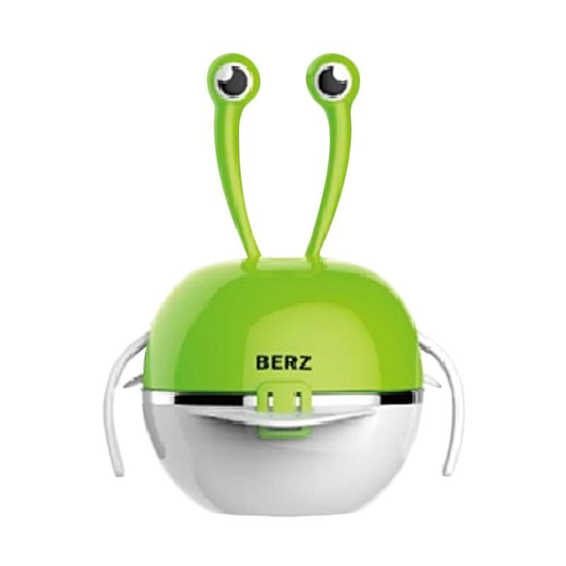 Berz Crab Stainless Dinnerware Set Peralatan Makan Anak Green
