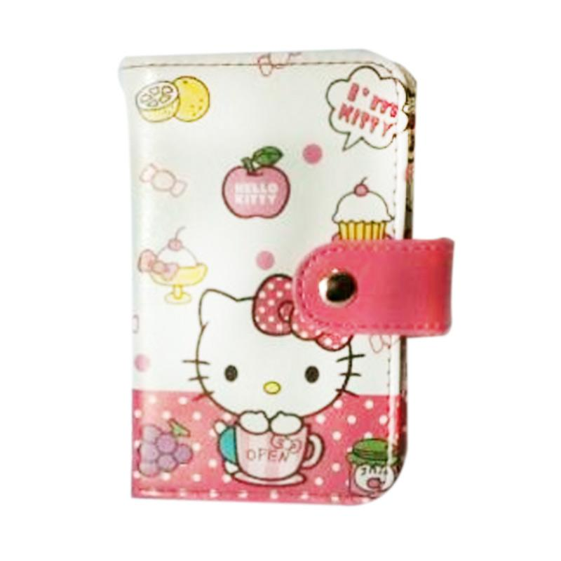 Hello Kitty HK Gelas Open Dompet Kartu - Putih Pink