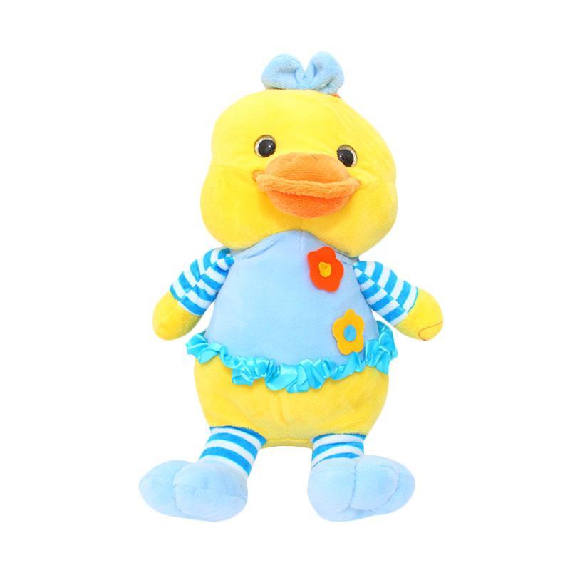 Istana Kado Kino Stripe Duck Bebek Bunga Animal Boneka [17 Inch]