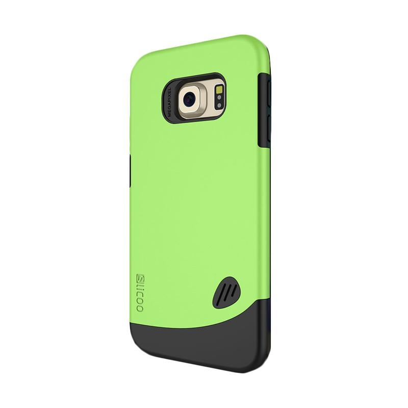 Slicoo Frosted Back Side Hardcase Casing for Samsung Galaxy S6 Edge - Green