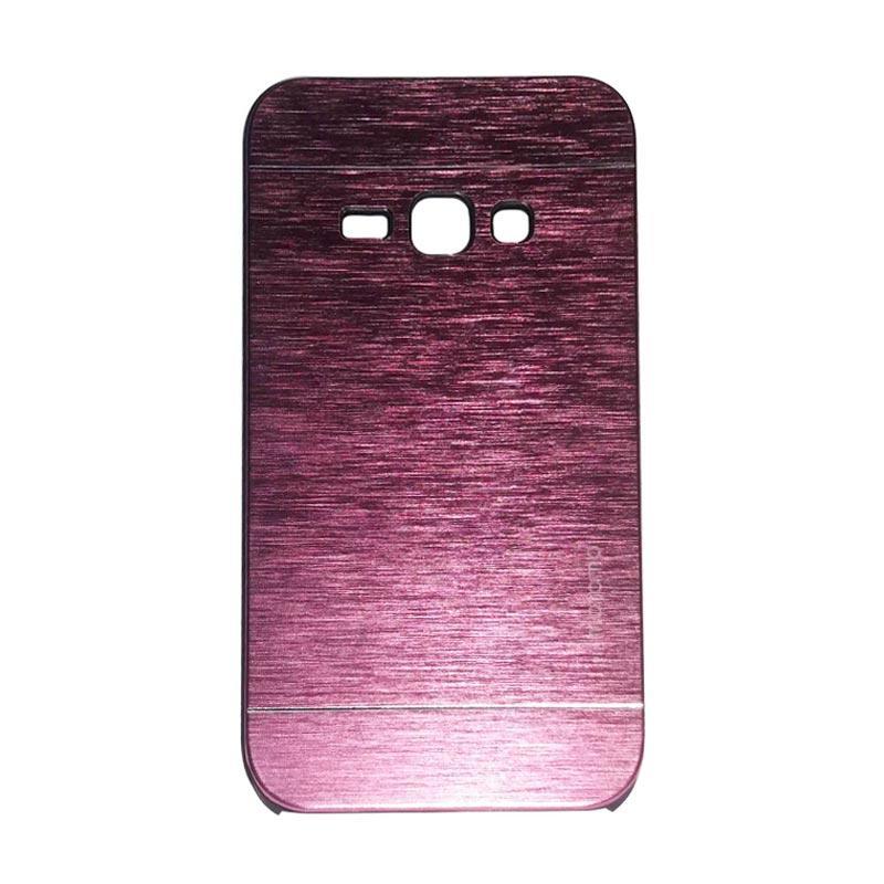 Motomo Metal Hardcase Casing for Samsung Galaxy J1 J100F - Pink