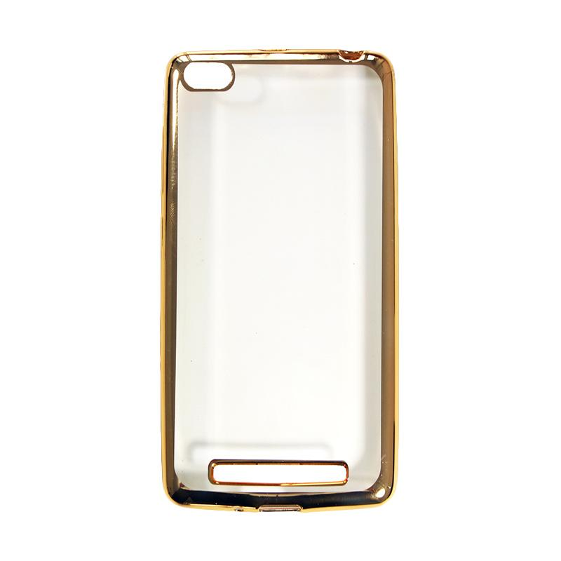 OEM Shining Chrome Softcase Casing for Huawei Honor 4C 5 inch - Gold