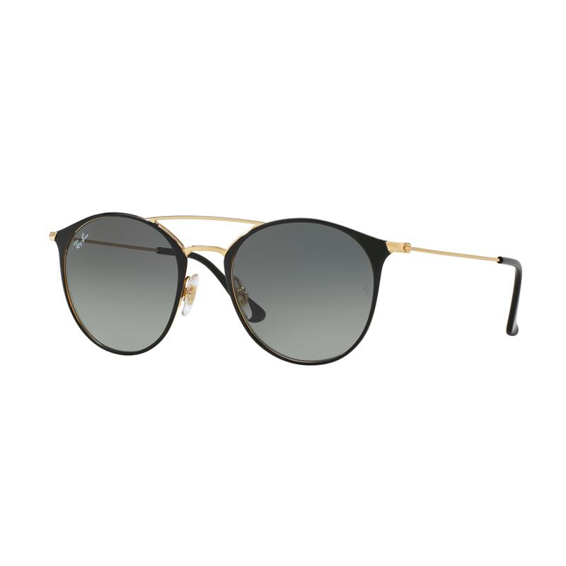 Ray-Ban RB3546 Sunglasses - Gold Top Black [187/71/ Size 52/ Grey Gradient]
